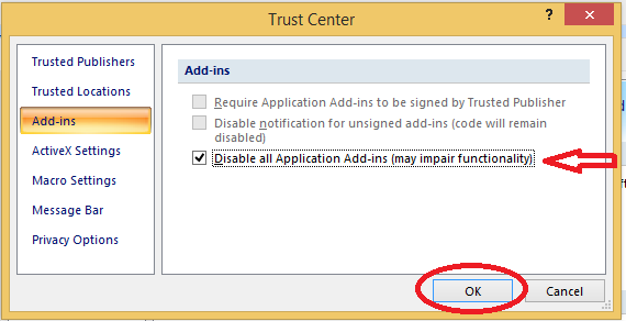 Khắc phục xong lỗi macro security setting khi mở file word